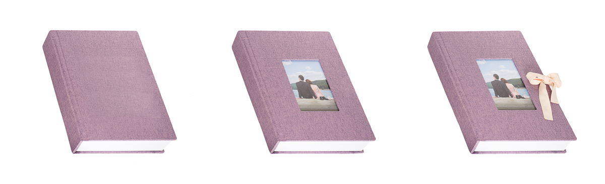 Flush Mount Albums with Cameo WIndow Ribbon
