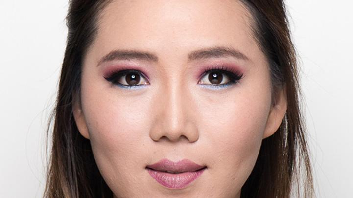 calgary makeup artists Tara shows evening makeup look step by step