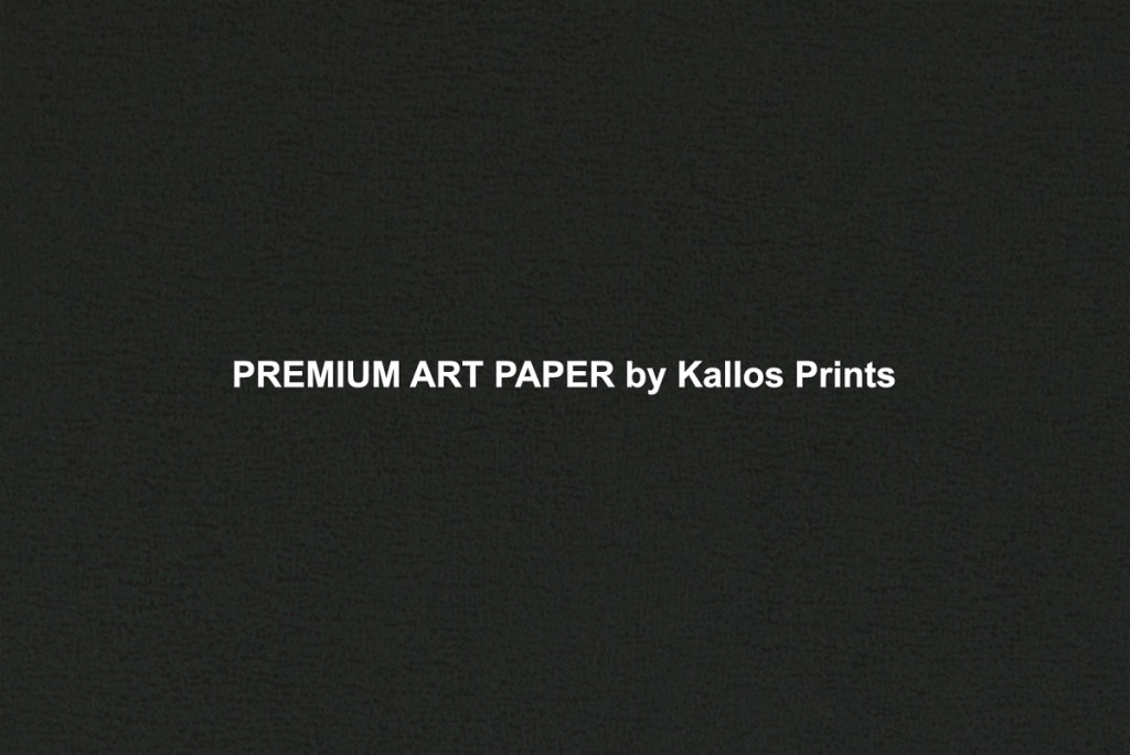 Premium Art Photo Papers by Kallos Prints & Kallos Studio, shows texture of paper on black
