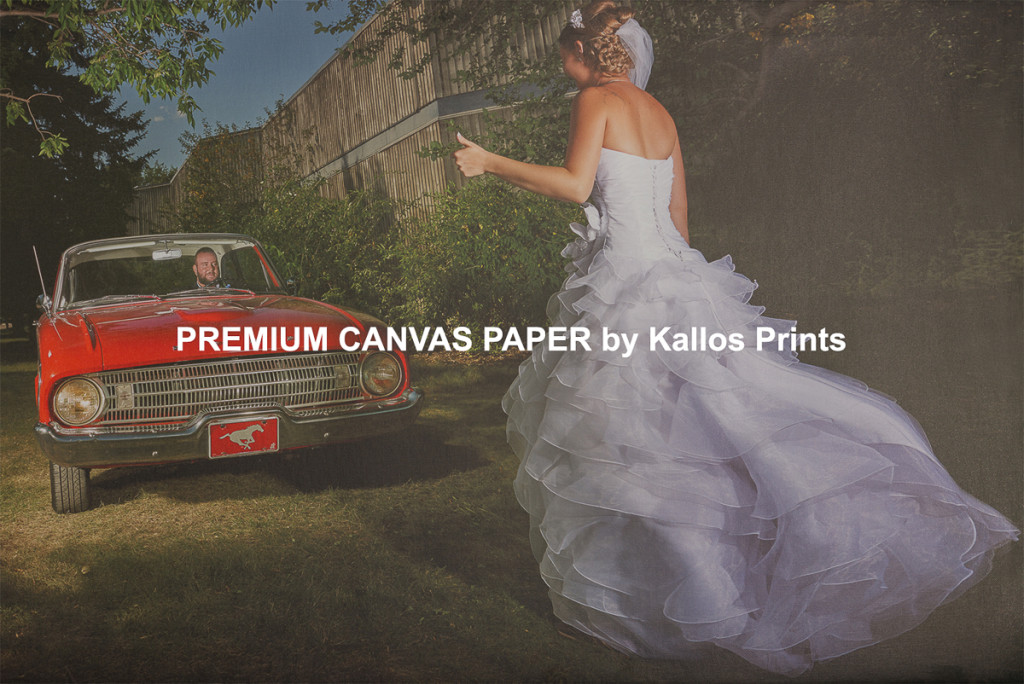 Premium Canvas Paper Photo Printing Paper on Black by Kallos Studio, 100 % cotton base canvas, best printing option, calgary wedding photo