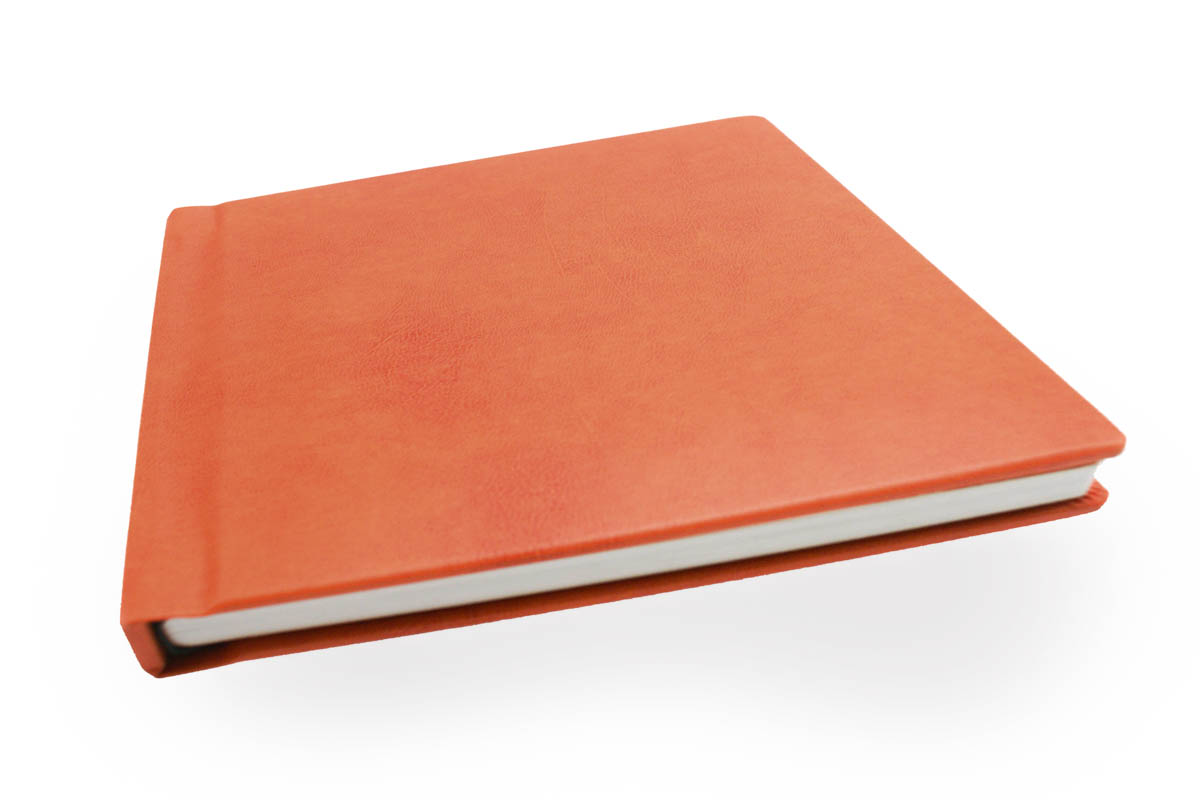 sopron bonded leather flush mount albums in orange cover