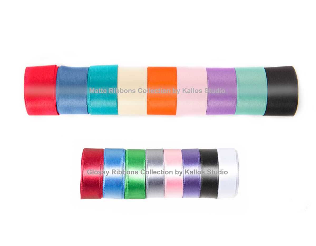 Ribbon Selection for Flush Mount Album Comes in Glossy & Matte