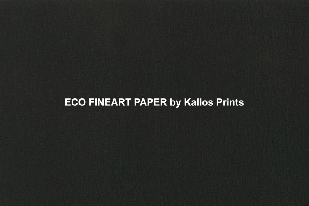eco fine art photo paper printed black to show texture