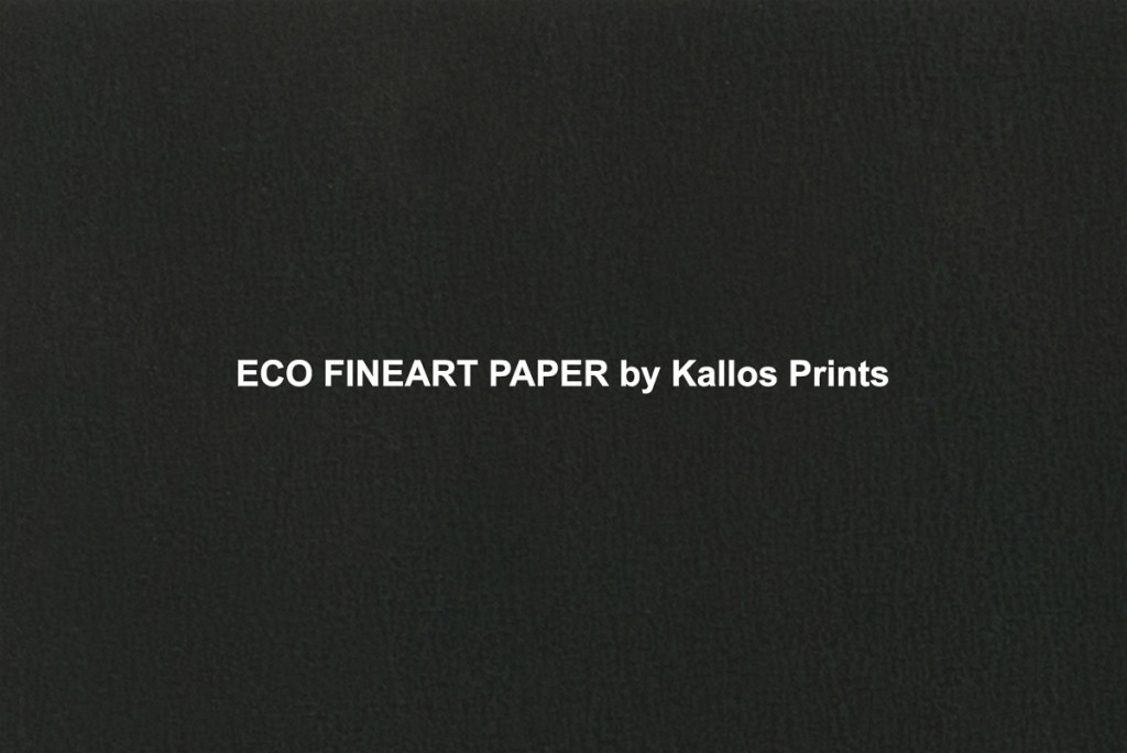 eco fine art photo paper printed black to show texture