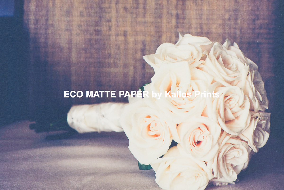 eco matte photo paper by kallos prints, a photo of a wedding bouqet