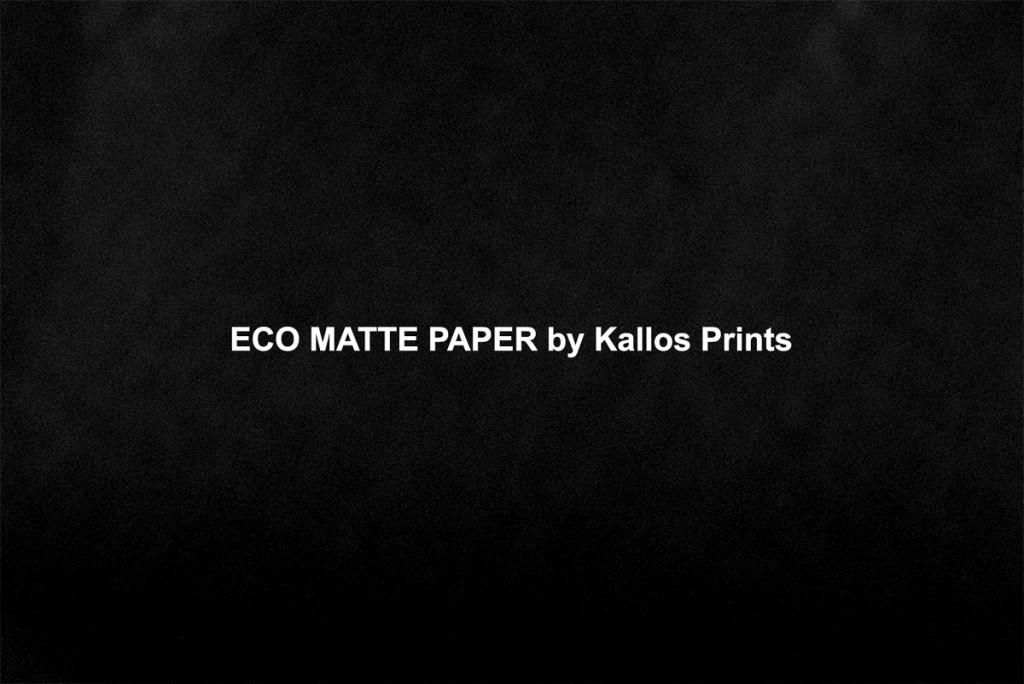 eco matte photo paper by kallos prints, a photo of black printing by calgary wedding photographers kallos photography
