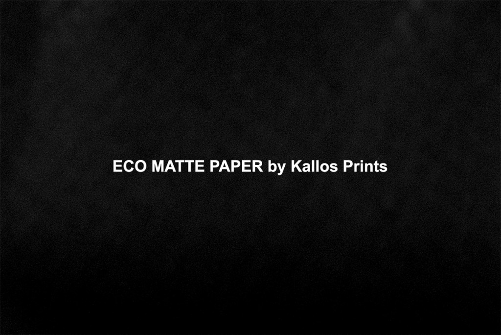 eco matte photo paper by kallos prints, a photo of black printing by calgary wedding photographers kallos photography