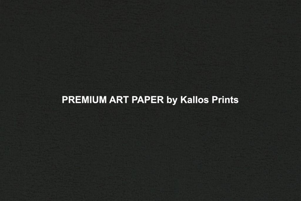 Premium Art Photo Papers by Kallos Prints & Kallos Studio, shows texture of paper on black