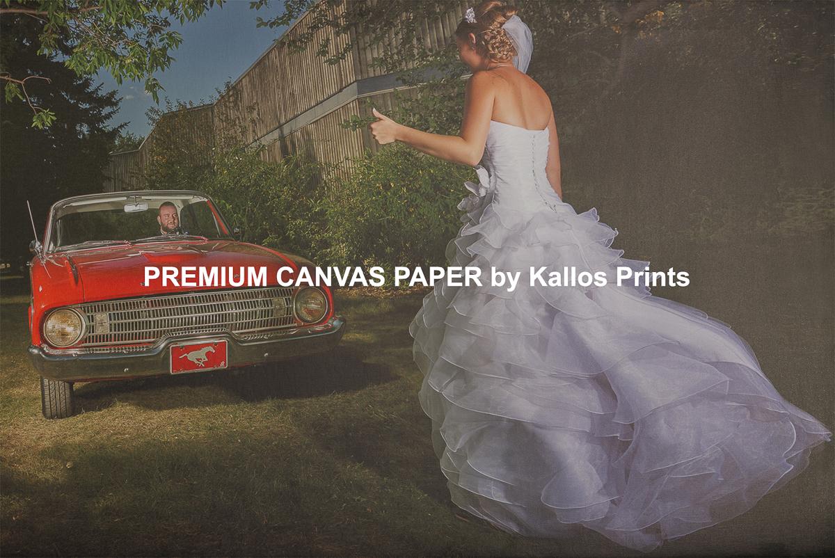 Premium Canvas Paper Photo Printing Paper on Black by Kallos Studio, 100 % cotton base canvas, best printing option, calgary wedding photo