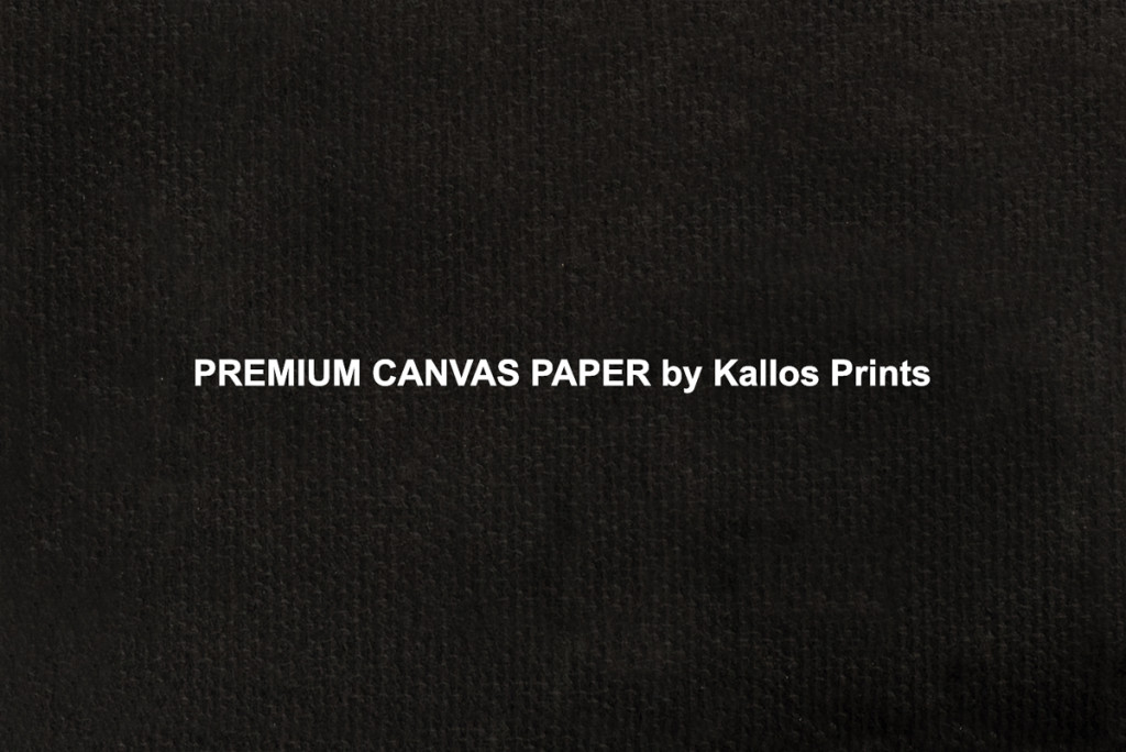 Premium Canvas Paper Photo Printing Paper on Black by Kallos Studio, 100 % cotton base canvas, best printing option, printed black to show texture