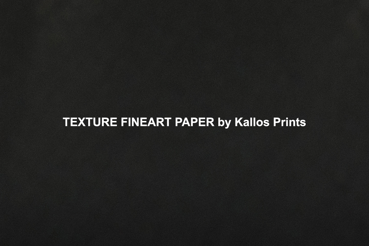 Texture Fine art Paper on Black by Kallos Studio printed on black to show texture